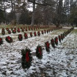 Winter Wreath on Cemetery Grave in Woodlawn Guelph