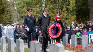 Remembrance Day 2018 at Woodlawn Memorial Park in Guelph