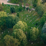Woodlawn Memorial Park in Guelph viewed from above