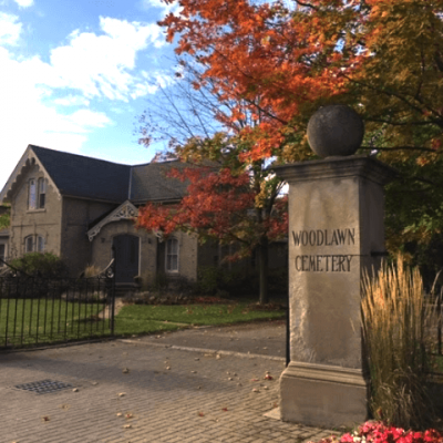 Entrance of Woodlawn Memorial Park - What Is The Difference Between A Cemetery and A Memorial Park?