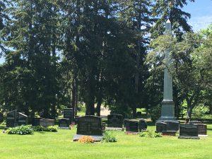 Headstones at Woodlawn Memorial Park